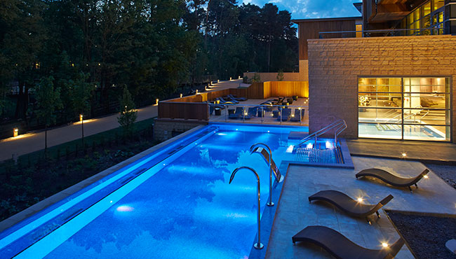 Aqua-Sana-Outdoor-Pool-at-Night